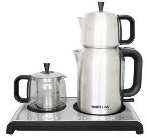 چای ساز و کتری جوش صفحه ای ایلماس - برلیانت مدل BTM-4900